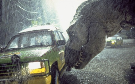 "Above, a scene from ""Jurassic Park."" (Photo credit: Universal Pictures)"