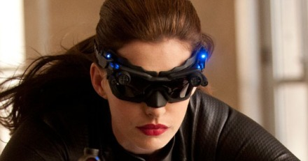 "Anne Hathaway, as Selina Kyle aka Catwoman, is shown in a scene from ""The Dark Knight Rises."" (Photo credit: Warner Bros.)"