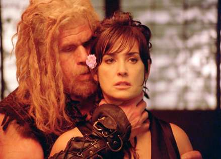 "Ron Perlman and Demi Moore are shown in a scene from ""Bunraku."" (Photo credit: ARC Entertainment)"