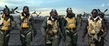 "Above, a scene from ""Red Tails."" (Photo credit: Lucasfilm)"