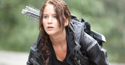 "Jennifer Lawrence is shown in a scene from ""The Hunger Games."" (Photo credit: Lionsgate)"