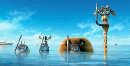 "Above, a scene from ""Madagascar 3: Europe's Most Wanted."" (Photo credit: Paramount Pictures)"