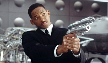 "Will Smith is shown in a scene from ""Men in Black."" (Photo credit: Columbia Pictures)"