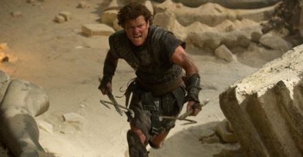 "Sam Worthington is shown in a scene from ""Wrath of the Titans."" (Photo credit: Warner Bros. Pictures)"