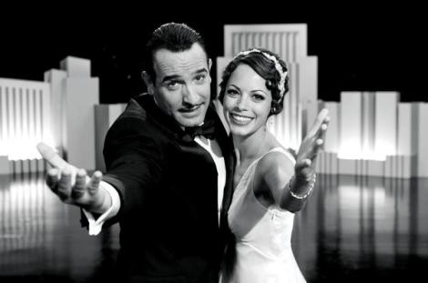"""Jean Dujardin and Bérénice Bejo are shown in a scene from """"The Artist."""" (Photo credit: The Weinstein Company)"""