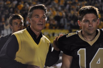 "Kurt Russell, left, and Brian Presley are shown in a scene from ""Touchback."" (Photo credit: Anchor Bay Films)"