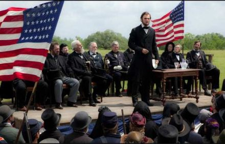 "Above, a scene from ""Abraham Lincoln: Vampire Hunter."" (Photo credit: Twentieth Century Fox Film Corporation)"