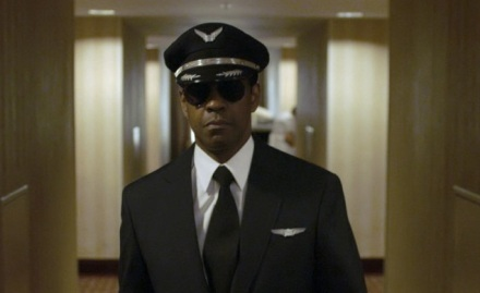 "Denzel Washington is shown in a scene from ""Flight."" (Photo credit: Paramount Pictures)"