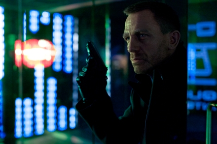 "This publicity film image released by Columbia Pictures shows Daniel Craig as James Bond in the action adventure film, ""Skyfall."" (Photo credit: AP photo by Sony Pictures, Francois Duhamel)"
