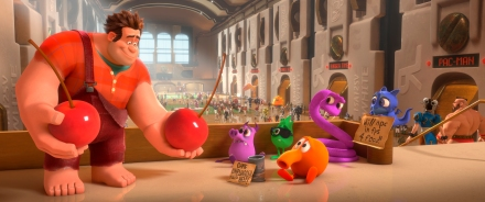 "Ralph, left, voiced by John C. Reilly in a scene from ""Wreck-It Ralph."" The new Walt Disney Animation Studios film releases in theaters on Friday, Nov. 2. (AP photo by Disney, File)"