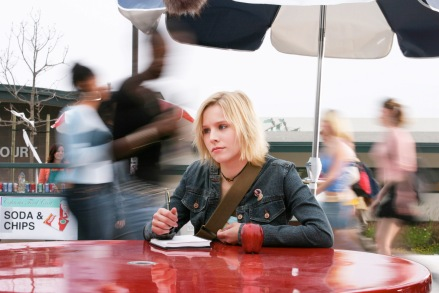 "This 2004 file photo shows actress Kristen Bell in a scene from the teen detective series ""Veronica Mars."" Creator Rob Thomas launched a Kickstarter campaign to fund a movie of his cult TV show, which was canceled after three seasons in 2007. It met its stated goal of raising $2 million in less than 11 hours, meaning it would be greenlit to begin shooting this summer.  (Photo credit: AP photo by UPN, Scott Garfield)"