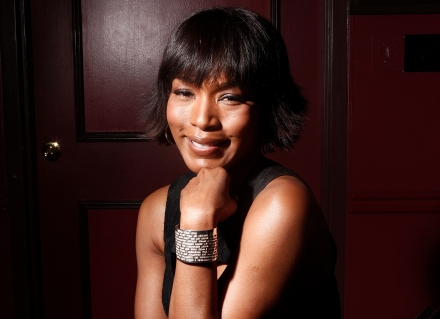 "This Jan. 12, 2012, file photo shows actress Angela Bassett at Sardi's restaurant in New York. Bassett co-stars in the action flick, ""Olympus Has Fallen."" (Photo credit: AP photo by Carlo Allegri)"