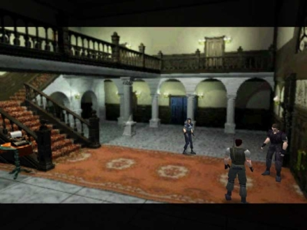 "Above, a scene from the original ""Resident Evil"" video game. (Photo credit: Capcom)"