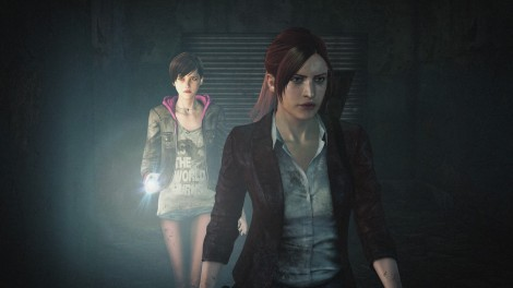 "Moira Burton and Claire Redfield are shown in a scene from ""Resident Evil: Revelations 2."" (Photo credit: CAPCOM)"