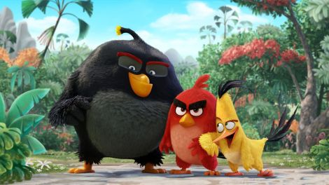 "Above, a scene from ""The Angry Birds Movie."" (Photo credit: Sony Pictures Releasing)"