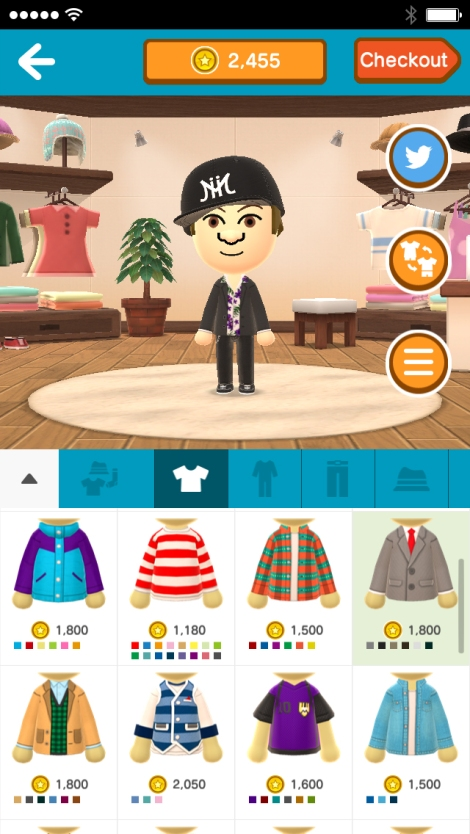 """Above, part of the app called """"Miitomo,"""" featuring its customizable characters called Miis. (Nintendo)"""