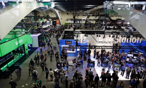 Ppeople walk through the exhibit hall at the Game Developers Conference in San Francisco on March 4, 2015. The 30th annual Game Developers Conference runs from March 14-18, 2016, at Moscone Center in San Francisco. (Eric Risberg/The Associated Press, file)