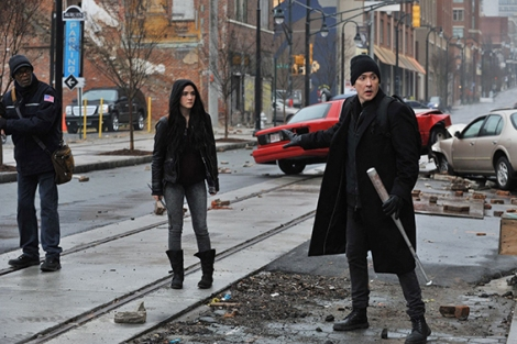 """Above, a scene from """"Cell."""" (Photo credit: Saban Films)"""